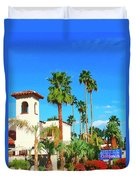 Hotel California Palm Springs Duvet Cover