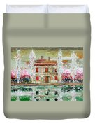 House And River Duvet Cover