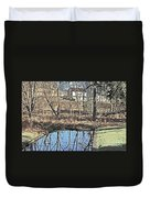 House And The Reflecting Pool Duvet Cover