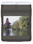 House Boat On River Avon Duvet Cover