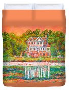 House By The Tidal Creek At Pawleys Island Duvet Cover
