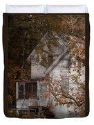 House In Fall Duvet Cover
