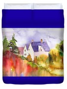 House In The Country Duvet Cover