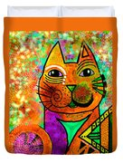 House Of Cats Series - Blinks Duvet Cover by Moon Stumpp