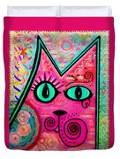 House Of Cats Series - Catty Duvet Cover by Moon Stumpp