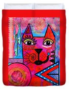 House Of Cats Series - Tally Duvet Cover