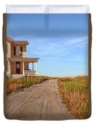 House On Rural Dirt Road Duvet Cover