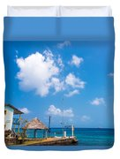 House Overlooking The Sea Duvet Cover