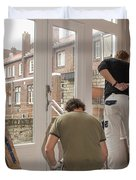 House Painters At Work Duvet Cover