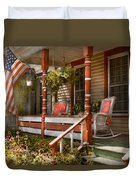 House - Porch - Traditional American Duvet Cover