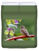 House Sparrow On A Wheel Duvet Cover