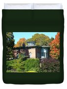 House Surrounded By Autumn Duvet Cover