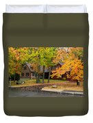 House Surrounded With Colors Duvet Cover