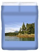 House Upon A Rock Duvet Cover