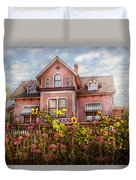 House - Victorian - Summer Cottage  Duvet Cover