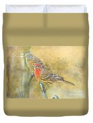 Housefinch Pair With Texture Duvet Cover