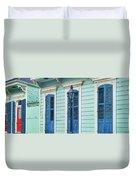 Houses Along A Street, French Quarter Duvet Cover