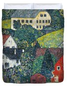 Houses At Unterach On The Attersee Duvet Cover