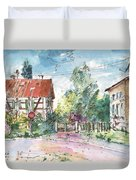 Houses In Soufflenheim Duvet Cover