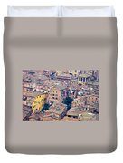 Houses Of Old City Of Siena - Tuscany - Italy - Europe Duvet Cover