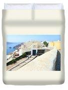 Houses Oia Santorini Duvet Cover