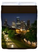 Houston At Night Duvet Cover