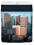 Houston Financial District Duvet Cover