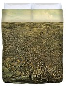 Howards Map Of Buffalo New York 1880 Duvet Cover