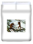 Howling Monkey Duvet Cover