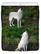 Howling Wolves Duvet Cover