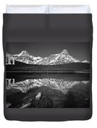 1m3643-bw-howse Peak Mt. Chephren Reflect-bw Duvet Cover