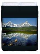 1m3643-howse Peak, Mt. Chephren Reflect Duvet Cover