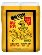 Hoyts A Texas Steer Duvet Cover