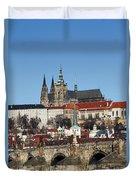 Hradcany - Prague Castle Duvet Cover by Michal Boubin