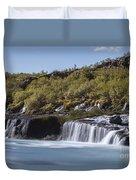 Hraunfossar Iceland 9 Duvet Cover