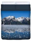 Hubbard Glacier Mountain Reflection Duvet Cover