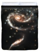 Hubble - Rose Made Of Galaxies Duvet Cover