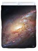 Hubble View Of M 106 Duvet Cover by Adam Romanowicz