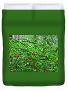 Huckleberry Bush Duvet Cover