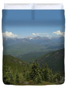 View Of The Rockies From Huckleberry Mountain Glacier National Park Duvet Cover