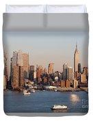 Hudson River And Manhattan Skyline I Duvet Cover