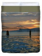 Hudson River Icey Sunset Duvet Cover