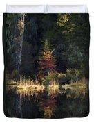 Huff Lake Reflection Duvet Cover
