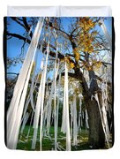 Huge Tree Covered In Toilet Paper Duvet Cover