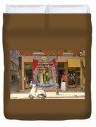 Hugs At Les Folles Allies Vintage Couture Friperie Farewell Goodbye Mont Royal City Scene C Spandau  Duvet Cover