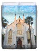 Huguenot Church Duvet Cover