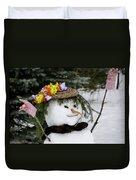 Hula Snowlady Duvet Cover