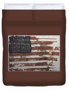 Hulbert Flag Early Us Flag 1776 Duvet Cover by Photo Researchers