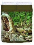 Human Eating Tree Duvet Cover