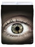 Human Eye Macro Duvet Cover by Elena Elisseeva